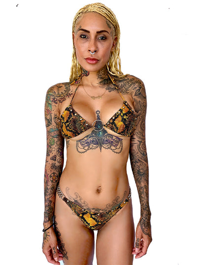 Women's Snakeskin Chain Bikini by Switchblade Stiletto