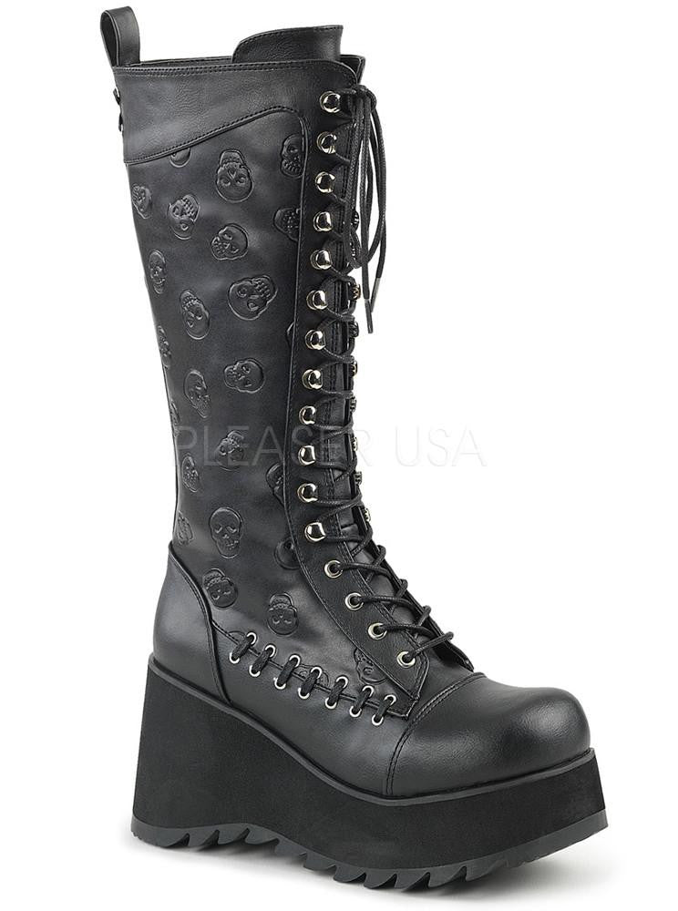 Women's Scene-107 Vegan Leather Boot by Demonia