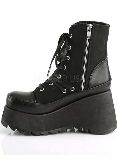 Women's Scene 50 Vegan Leather Boot by Demonia