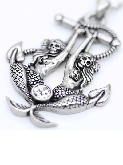 """Sea Sirens Mermaid-Anchor"" Necklace by Controse (Stainless Steel)"