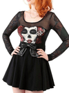 "Women's ""Sedated"" Jersey Dress by Lucky 13 (Black)"