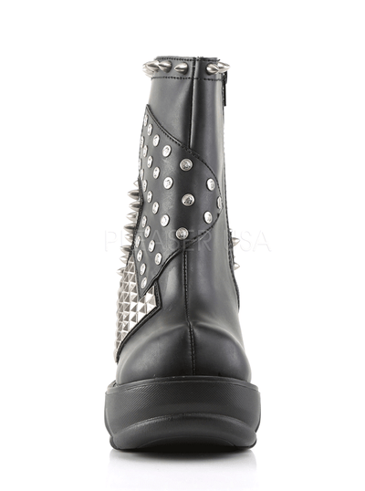 Women's Sinister-64 Vegan Leather Ankle Boot by Demonia