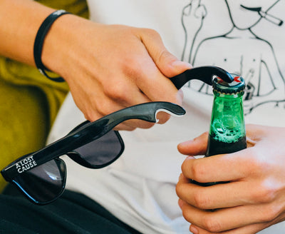 Six Pack Bottle Opener Sunglasses by A Lost Cause