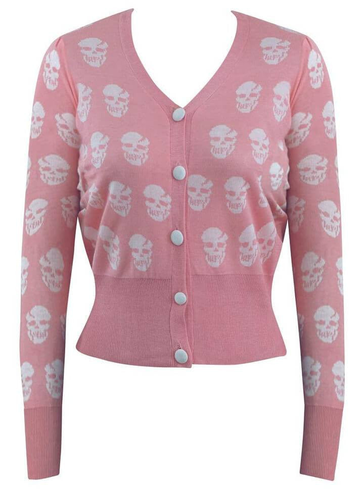 "Women's ""Riot Riot"" Cardigan by Double Trouble Apparel (Pink) - www.inkedshop.com"