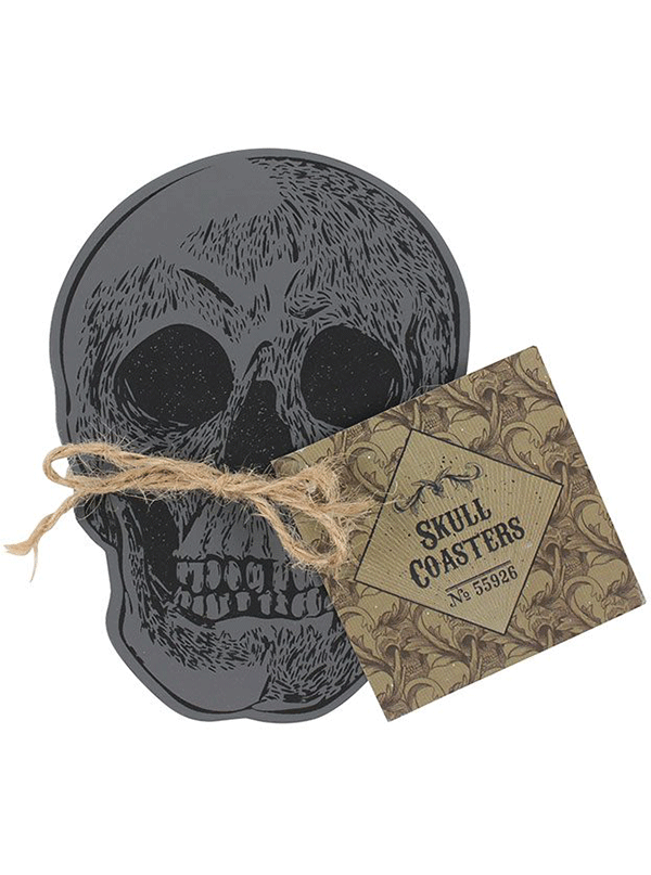 Skull Coasters Set of 4 by Skulls & Things