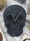 """Cabinet of Curiosities Skull Clock"" by Skulls & Things"