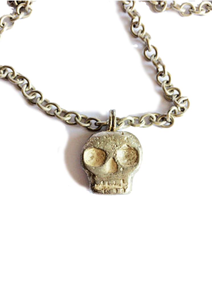 Skull Pendant Necklace by Lugdun Artisans (Sterling Silver)