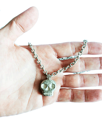 """Skull Pendant"" Necklace by Lugdun Artisans (Sterling Silver)"