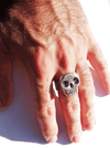 """Skull Ring"" by Lugdun Artisans (Sterling Silver)"