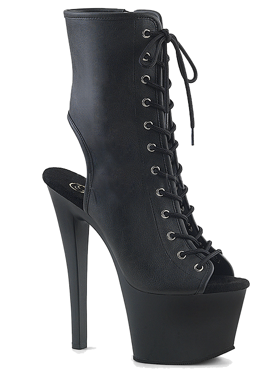"Women's ""Sky-1016"" Ankle/Mid-Calf Boot by Pleaser (Black)"