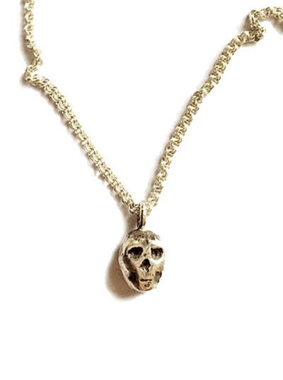 """Small Skull Pendant"" Necklace by Lugdun Artisans (Sterling Silver)"