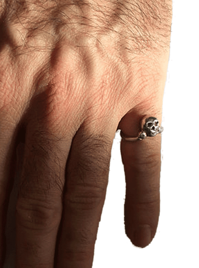 """Small Skull"" Ring by Lugdun Artisans (Sterling Silver)"