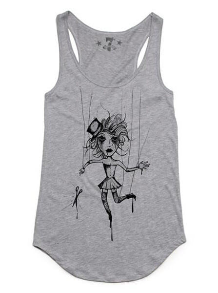 "Women's ""Strung Out"" Tank by 7th Revolution (Heather Grey) - www.inkedshop.com"