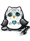 """Sugar Skull Owl"" Crossbody Bag (Black)"