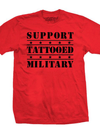 "Men's ""SFB Support Tattooed Military"" Tee by Steadfast Brand (Red)"