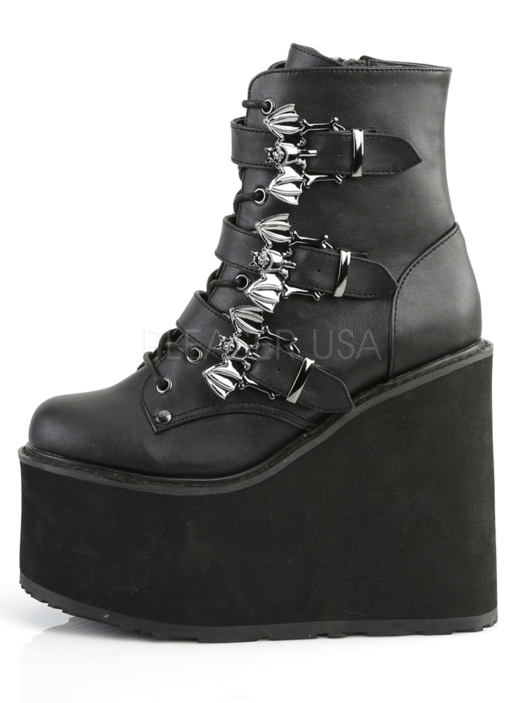 Swing 103 Vegan Leather Wedge by Demonia
