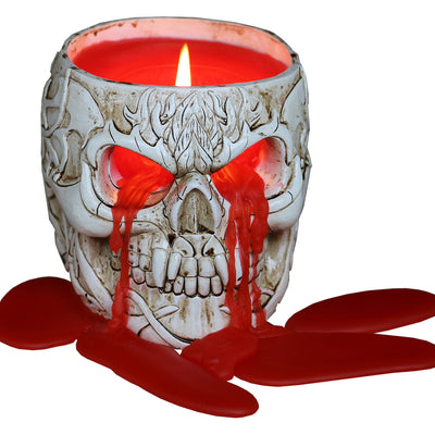 Goth Skull Scented Candle by Spiral USA