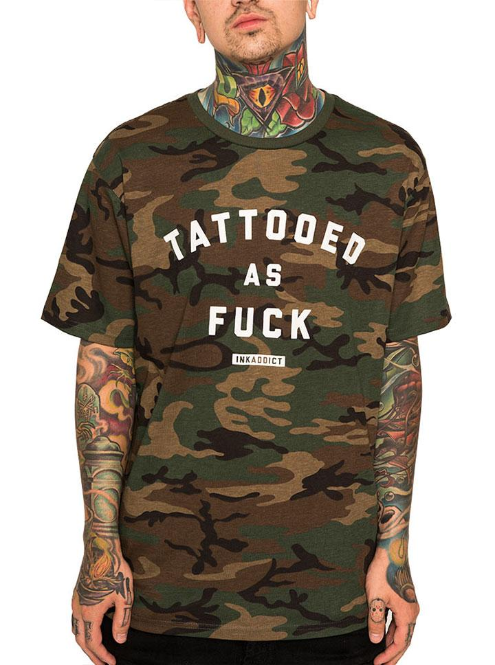 Men's Tattooed as Fuck Tee by InkAddict