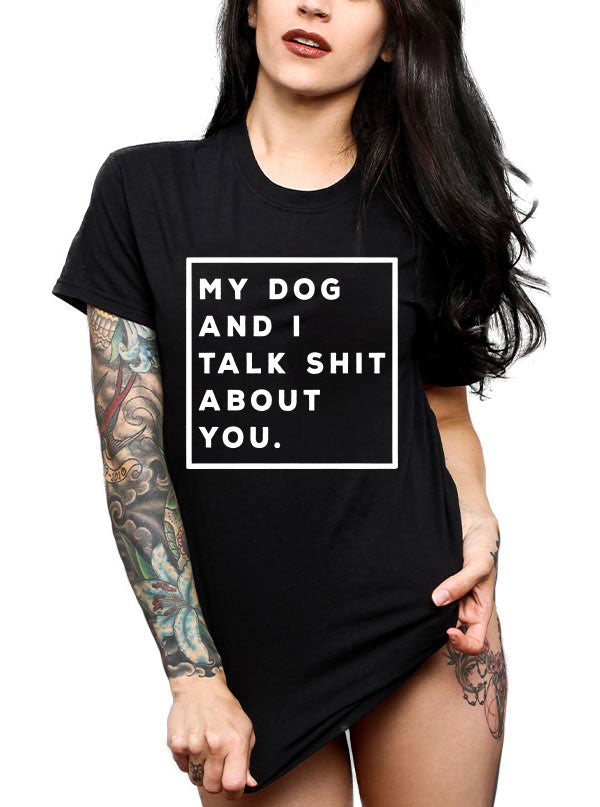 "Unisex ""Talk Shit"" Tee by Dirty Shirty (Black)"