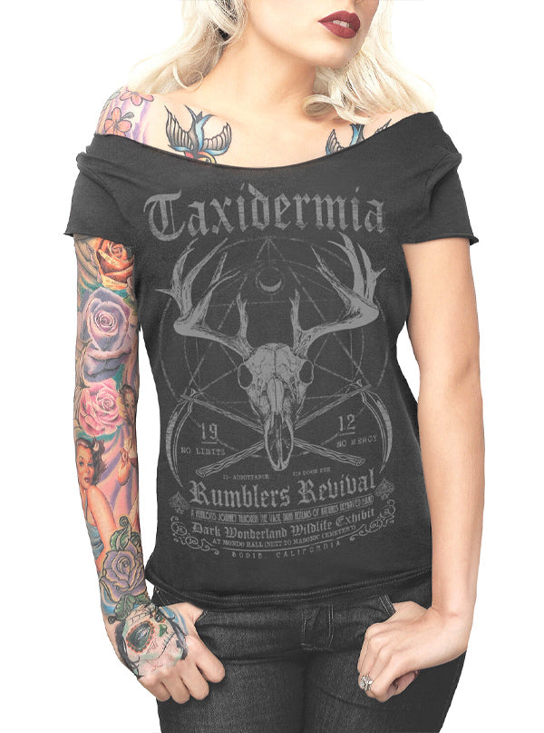 Women's Taxidermia Shoulder Tee by Serpentine Clothing