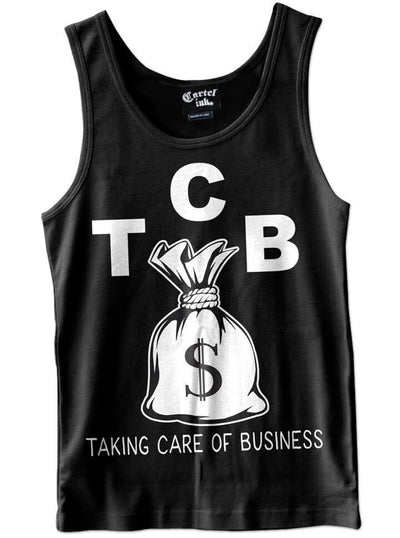 "Men's ""TCB"" Tank by Cartel Ink (Black) - www.inkedshop.com"