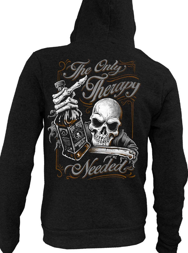 Men's The Only Therapy Zip-Up Hoodie by Lethal Threat