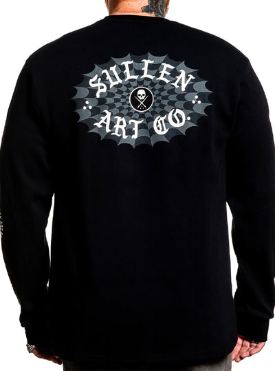 Men's Checkered Past Thermal Crew by Sullen