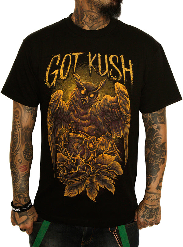 Men's Time Keeper Tee by Kush Kills Clothing (Black)
