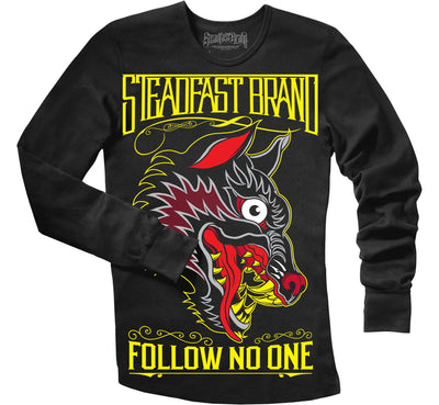 Follow No One Men's Thermal (black)