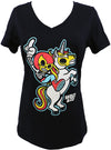WOMEN'S UNICORN V NECK TEE