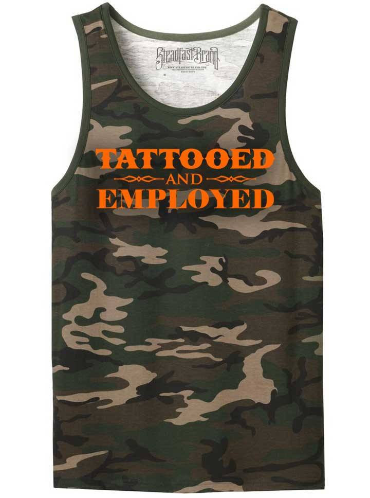 Men's Tattooed and Employed Men's Tank by Steadfast Brand (More Options)