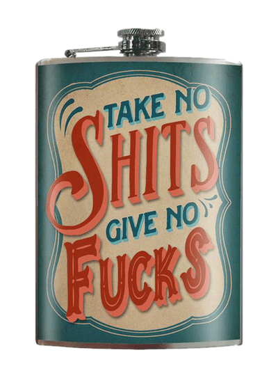 """Take No Shits"" Flask by Trixie & Milo"