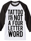 "Men's ""Four Letter Word"" Baseball Tee by Steadfast Brand (White/Black)"