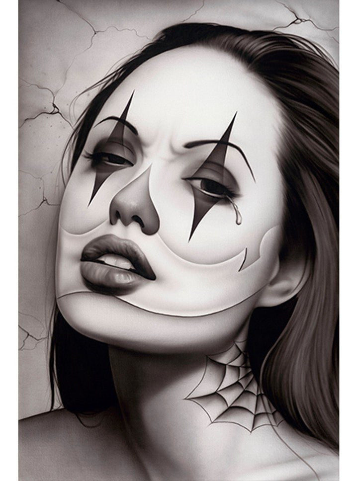 """Tears Of A Clown"" Print by Spider for Black Market Art - www.inkedshop.com"