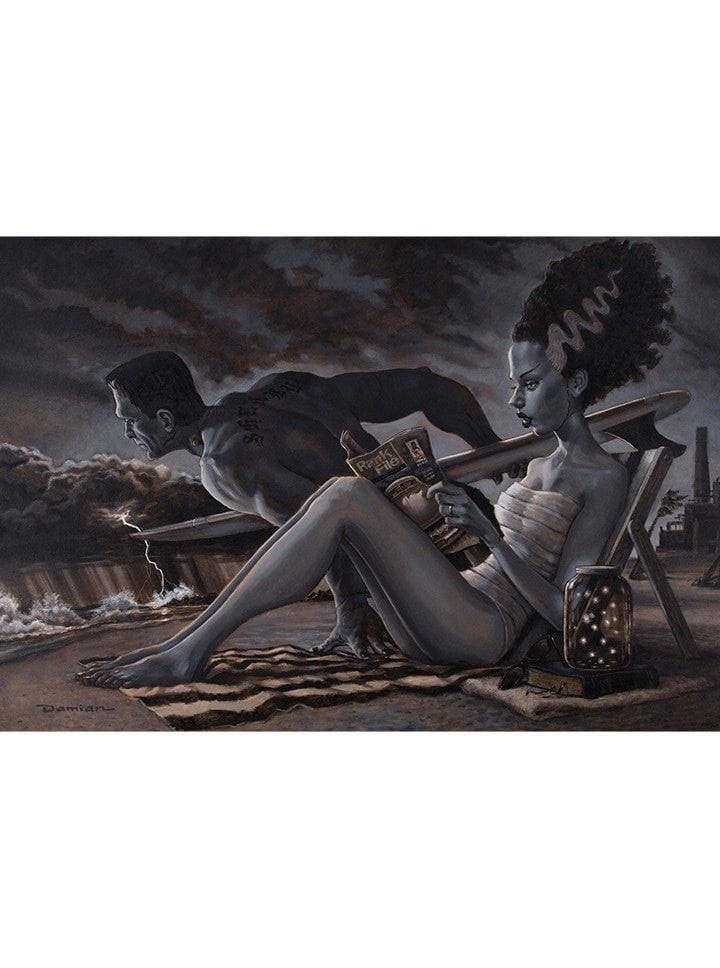 """The Bathers"" Print by Damian Fulton for Black Market Art - www.inkedshop.com"