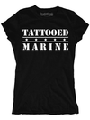 "Women's ""Tattooed Marine"" Tee (Black)"