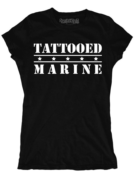 Women's Tattooed Marine Tee