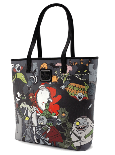Character Print Tote by Loungefly x Nightmare Before Christmas