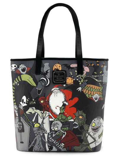 """Character Print"" Tote by Loungefly x Nightmare Before Christmas (Multi)"