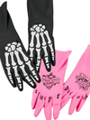 """Tuff Bones"" Dishwashing Gloves Set by Fred & Friends (Black/Pink)"