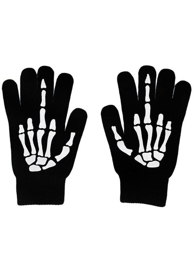 """Up Yours"" Gloves by Rat Baby (Black)"