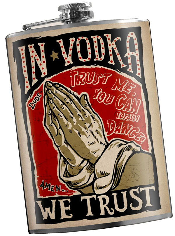In Vodka We Trust Flask by Trixie & Milo