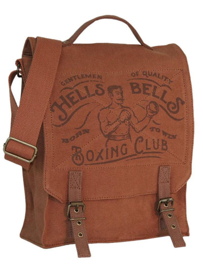 """Hells Bells Boxing Club"" Vintage Field Bag by Trixie & Milo - www.inkedshop.com"