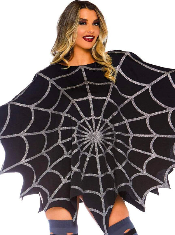 Women's Glitter Web Poncho by Leg Avenue