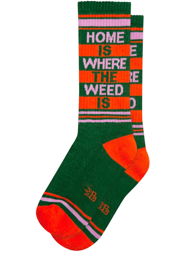 Unisex Home Is Where The Weed Is Ribbed Gym Socks