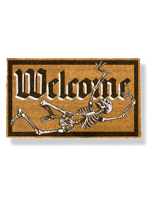 Welcome To Our Crypt Doormat by Funny Welcome