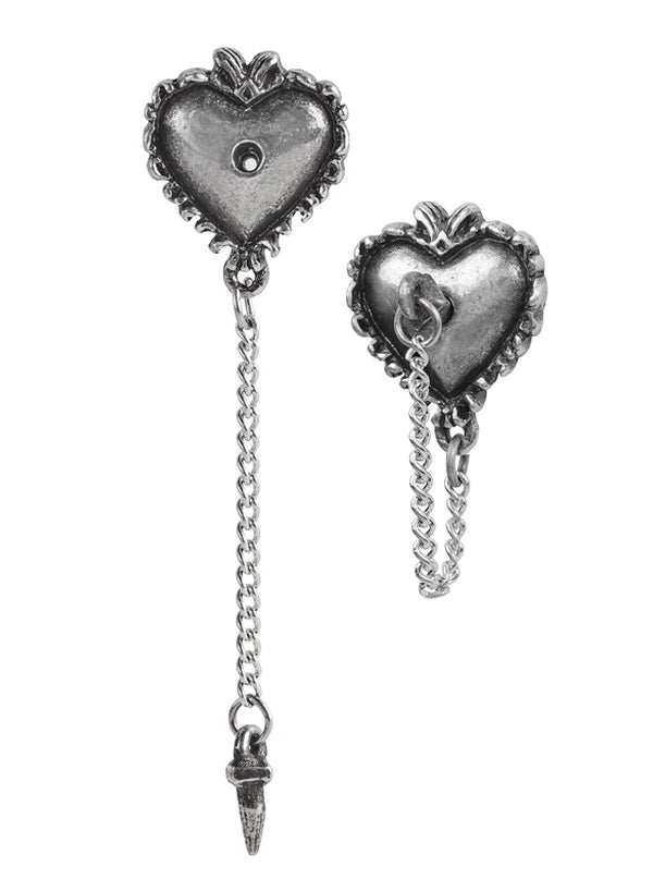 Witches Heart Studs by Alchemy of England