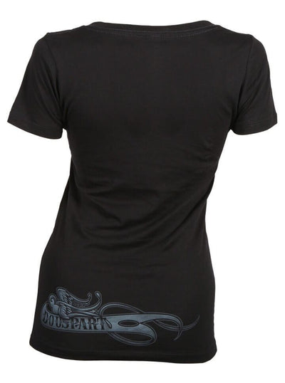 "Women's ""Do Us Part Hands"" V-Neck Tee by OG Abel (Black) - www.inkedshop.com"