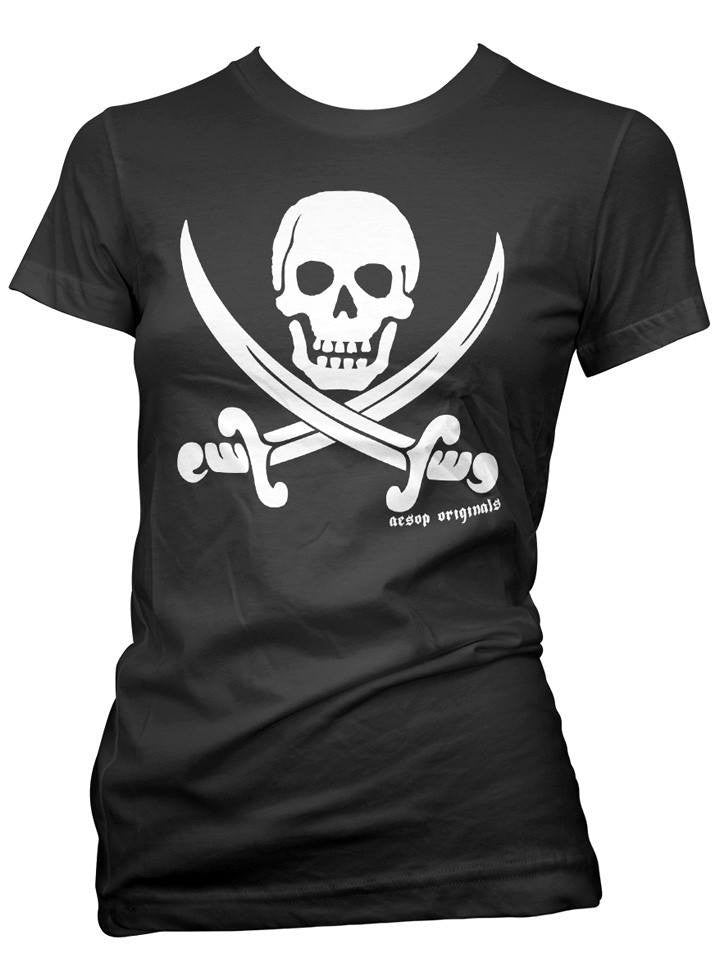 "Women's ""Jolly Rodger"" Tee by Aesop Originals (More Options) - www.inkedshop.com"