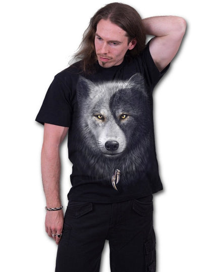 "Men's ""Wolf Chi"" Tee by Spiral USA (Black) - www.inkedshop.com"
